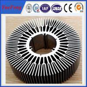 6063 T5 aluminum circular heat sink / OEM perfil aluminium round shape heat sink Manufactures