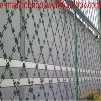 400x180 Anti Climbing Welded Razor Wire Mesh/welded pvc coated 150mm x 300mm razor wire mesh Manufactures