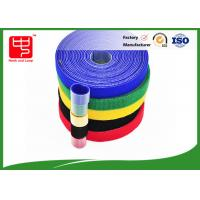 Wide 50mm double sided sticky hook and loop tape , super strength hook and loop different colors