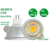 Energy Saving Aluminium 5W 450LM CRI80 Bright G5.3 MR16 Natural White COB Spotlight Manufactures