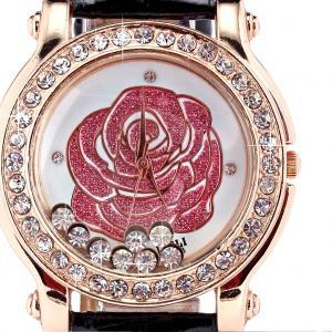 China Analog Large Face Womens Wrist Watches Leather , Quartz Wrist Watch on sale