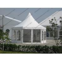 White PVC Pagoda Party Tent , Luxury Outdoor Canopy Tent White With Glass Sidewalls Manufactures