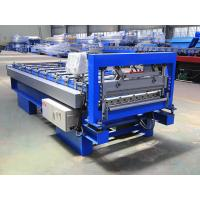 CE Roof Steel Profile Roll Forming Machine , Metal Roofing Sheet Roll Former Manufactures