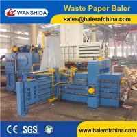 High efficiency full automatic baler for used cardboard&waste paper with conveyor Manufactures