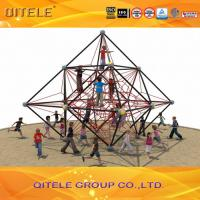 Pyramid Shaped Climbing Net Playground , Kids Climbing Cargo Net Manufactures