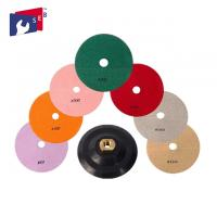 4 inch Diamond Resin Wet Polishing Pads with 8 Pieces for Granite Marble Manufactures