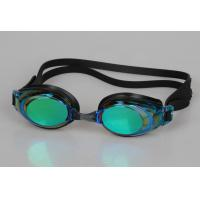 Silicone Swimming Goggles With Hard Mirror Coated Lens Manufactures