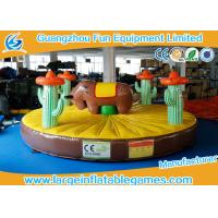 0.55mm PVC Tarpaulin Inflatable Sport Games , 5*5m Inflatable Rodeo Bull Manufactures