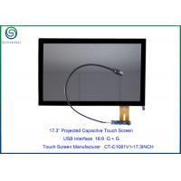 China 17.3 Medical Touch Screen With USB Interface For 16:9 HD LCD Panel, Projected Capacitive Technology With Custom Ability on sale