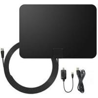 Amplified Digital HDTV Antenna Portable Indoor/Outdoor Antennas with Signal Booster for USB TV Tuner Manufactures