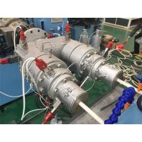 Quality 16 - 63mm PVC Pipe Manufacturing Machine , Plastic Pipe Extrusion Machine Independent Control for sale