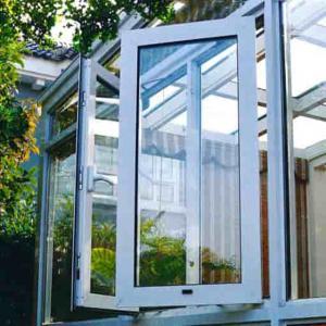 Irregular Aluminium Glass Door Frameless Glazing Insulated Curtain Wall Casement Open