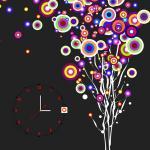 Custom Wall Painting Clock B0816 / MDF Decorative Wall Clock Manufactures