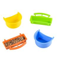 Quality plastic egg and biscuit treat seed cup, for samll sized birds and parrot for sale