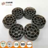 PE06 Balck Color MBBR Filter Media Virgin HDPE Material For 25*12mm Size Manufactures