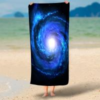 Rectangel Round Microfiber Swim Towel Hd 3d Print With Piping Or Tassel Manufactures