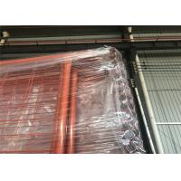 Quality Orange Color RAL 2009 POWDER coated Temporary Security Fencing Panels 2.1mx2.4m OD 32mm wall thick 1.40mm for sale