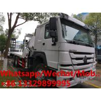 China HOT SALE! SINO TRUK HOWO 6*4 RHD 14T flatbed truck with knuckle crane boom, folded crane boom mounted on truck for sale on sale