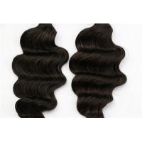 Brazilian Natural Human Hair Weave Deep Wave No Tangle No Shedding Manufactures