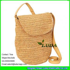 China LUDA wholesale raffia shoulder tote bag fashion sling straw raffia handbags on sale