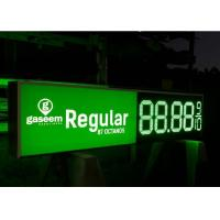 Green Color 18 Inch Cree Chip Led Gas Price Sign With 520-529nm Wavelength Manufactures