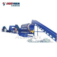 PP PET Bottle Plastic Recycling Washing Line Delabelling Crushing Drying Manufactures