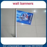 Double Sided Printed PVC Shop Front Flags Manufactures