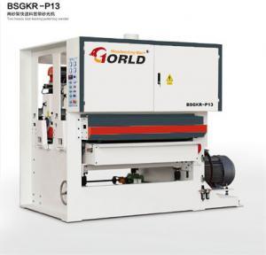 BSGKR-R13 Two Heads Fast Speed Feeding Plywood Veneer Finishing Polishing Sanding Machinery Manufactures