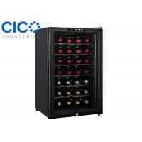 Upright 28 Bottle Thermoelectric Wine Cooler Blue LED Interior Light Manufactures