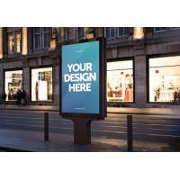 Buy cheap Double Side Outdoor Digital Advertising Screens Freestanding 2500 Nits 86 Inches from wholesalers