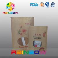 China Stand Up Customized Paper Bags For Food Packaging With Front Window on sale