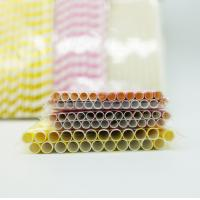 Drinking Flexible Paper Straws , Paper Straws Recyclable Restaurant Supply Paper Products Manufactures