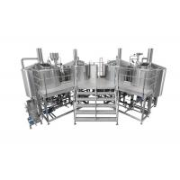 3500L Electric Heating 4 Vessel Brewhouse With Dimple Plate Jacket For Fermentation System Manufactures