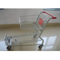 China Heavy Duty Plastic Shopping Trolley Stackable Space Saving With Hand Push on sale