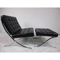 China Barcelona Leather Indoor Lounge Chair Stainless Steel Frame High Density Sponge on sale