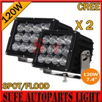 High Power7.4 INCH 120W CREE LED DRIVING LIGHT 4X4 FOG LIGHT OFFROAD MACHINERY 4WD ATV SUV Manufactures