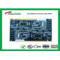 2 Layer PCB Board Immersion gold + plating gold fingers Blue solder mask Manufactures
