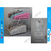 China Supermarket Clear Acrylic Display Stands Front Bins with Free Logo on sale