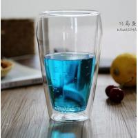 Borosilicate double wall glass handmade  500ml big glass cup with handle and lip clean Heat-resisting glass cup