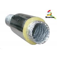 Round Acoustic Insulated Flexible Ducting , Silver Heat Resistant Flexible Hose Manufactures