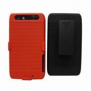 Rubberized Belt Clip Combo Mobile Phone Case, Suitable for Motorola Droid Razr xt912/xt910 Manufactures