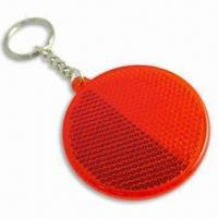 Round-shaped Reflector with EN-13356 Mark, Screen Printed Logos are Available Manufactures