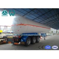 White Carbon Steel Safety Lpg Transport Trailer With Air Spring Suspension Manufactures