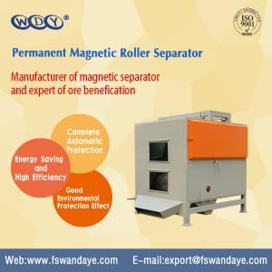 Dry Type Magnetic Roller Separator / Permanent Magnetic Separator For Minerals Quartz Feldsparsand Manufactures