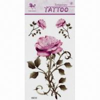 China Body Tattoo Stickers, Available in Various Patterns and Sizes on sale