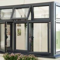 Wood Colour Custom Aluminium Windows Thermal Break Insulated For Commercial Manufactures