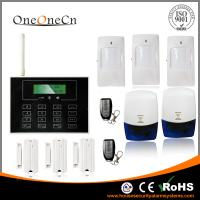 Black GSM LCD touch screen Wireless Security Alarm System with APP for house Manufactures