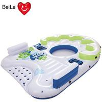 Buy cheap Customized 0.4mm PVC(EN71) material  inflatable floating island from wholesalers