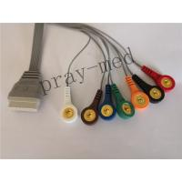 China Edan SE-2003 / SE-2012 7lead holter recorder ecg cable and leads on sale