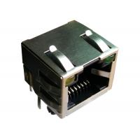 China HCJT1-802SK-L12 Single Port Rj45 Female Connector With LEDs LPJE101AHNL on sale